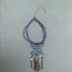 Jewelry - Oversized Egyptian collar / Turkish eye necklace